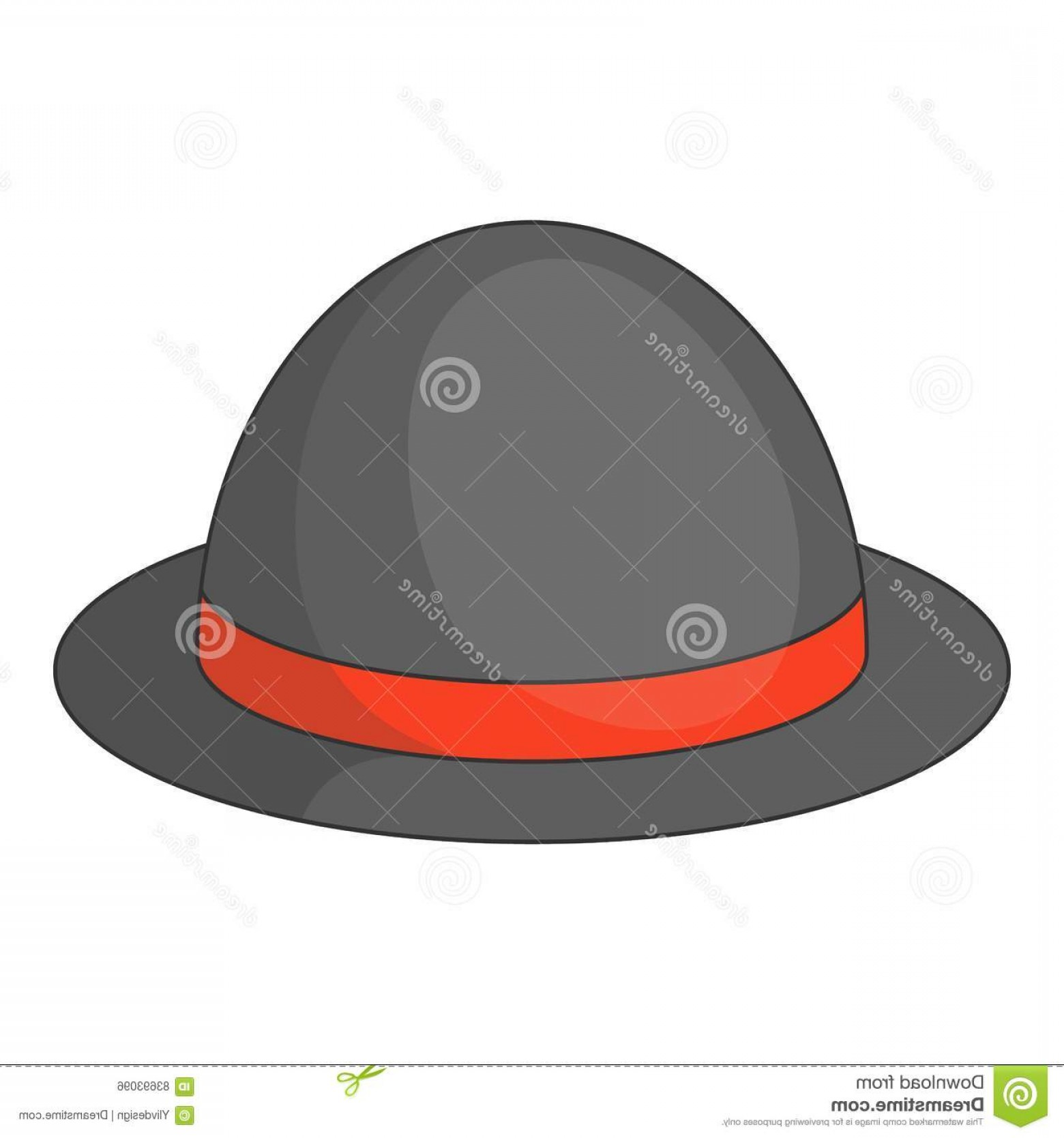 Bowler Hat Vector: Stock Illustration Bowler Hat Icon Cartoon Style Illustration Vector Web Design Image