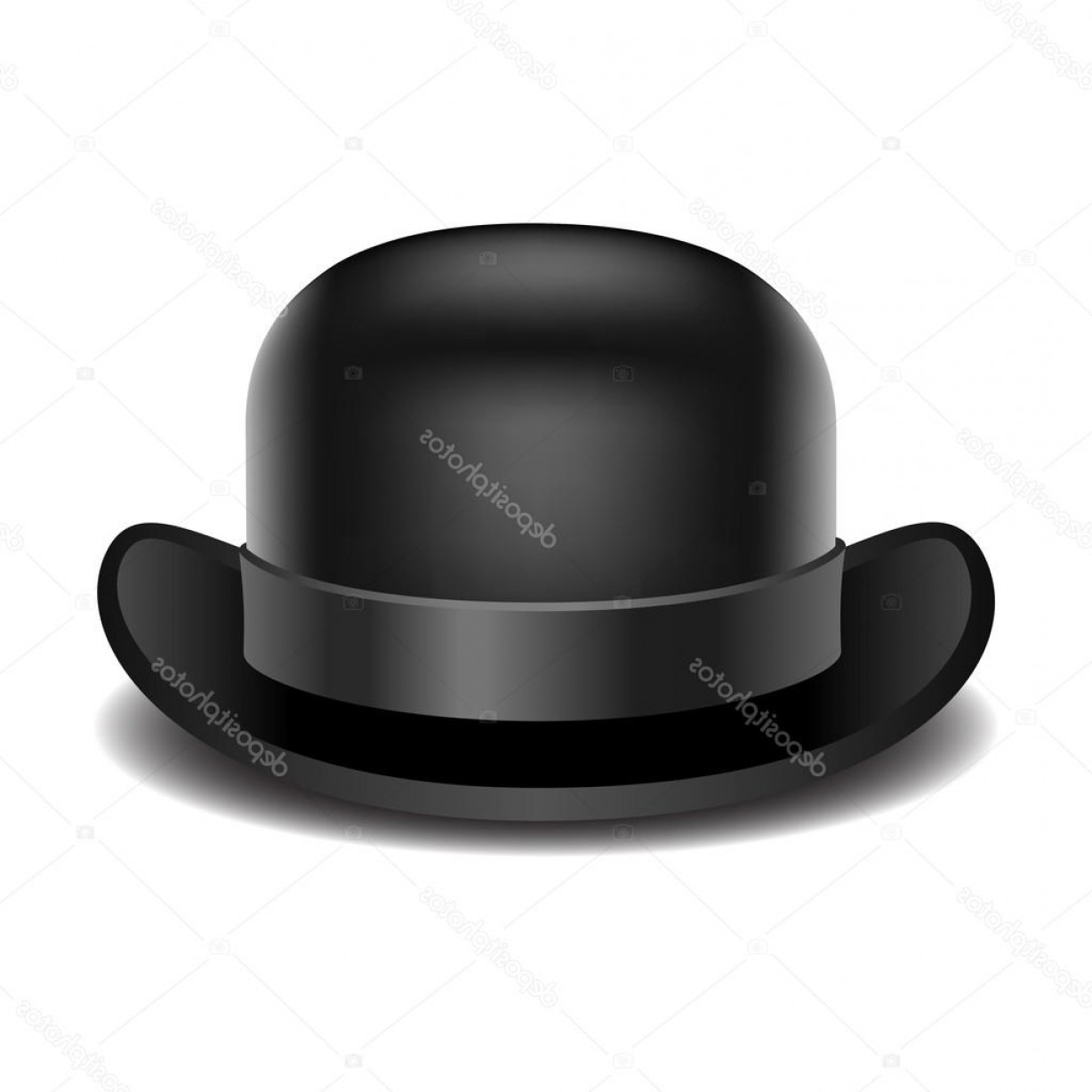 Bowler Hat Vector: Stock Illustration Bowler Hat On A White