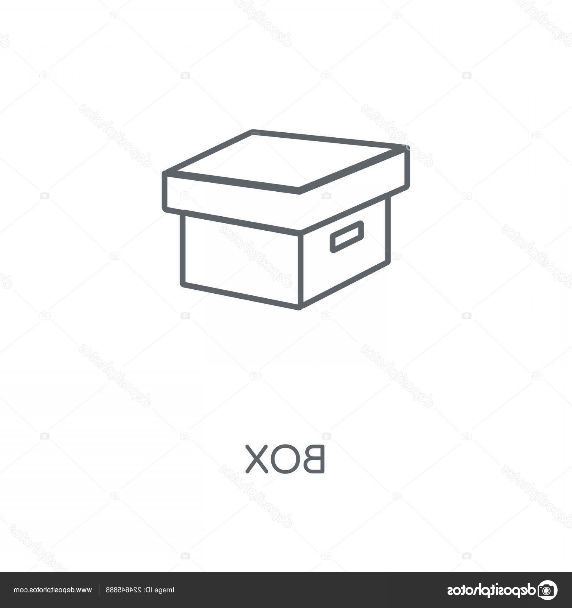 Shed PNG Vector: Stock Illustration Box Linear Icon Box Concept