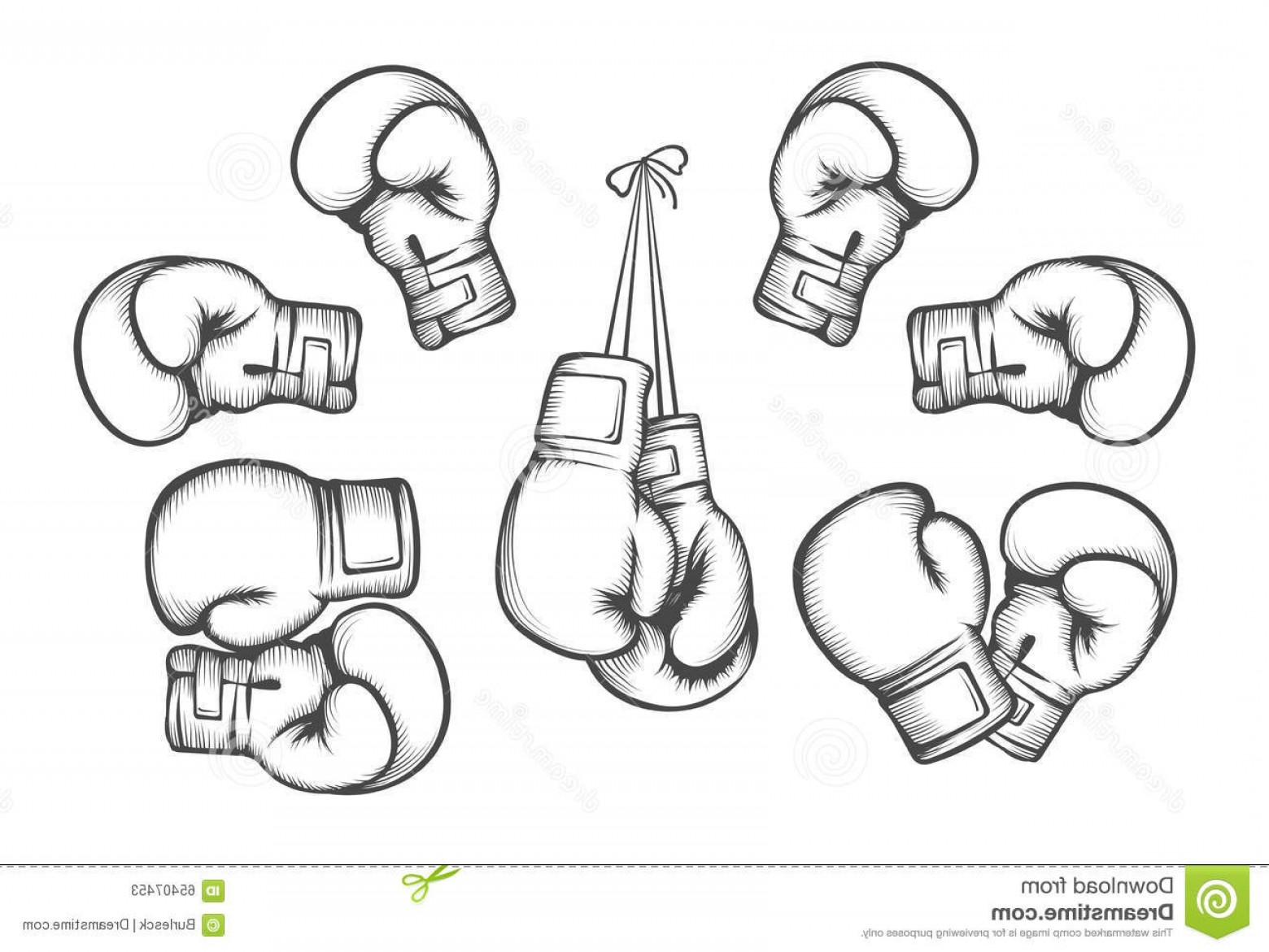 Pictures Of Boxing Gloves Vector Art: Stock Illustration Boxing Gloves Vector Equipment Fight Competition Hanging Protection Hand Illustration Image