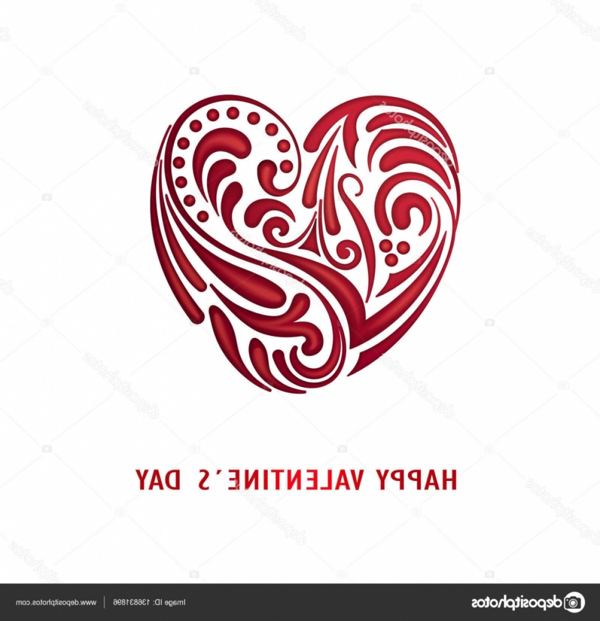 Cool Vector Hearts Pattern Symbol Pattern: Stock Illustration Bright Red Heart Happy Valentines