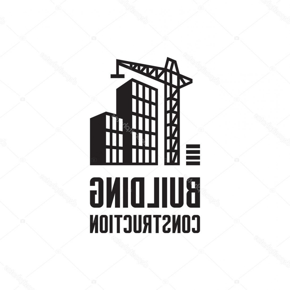 Gru Vector Logos: Stock Illustration Building Construction Logo Illustration Crane