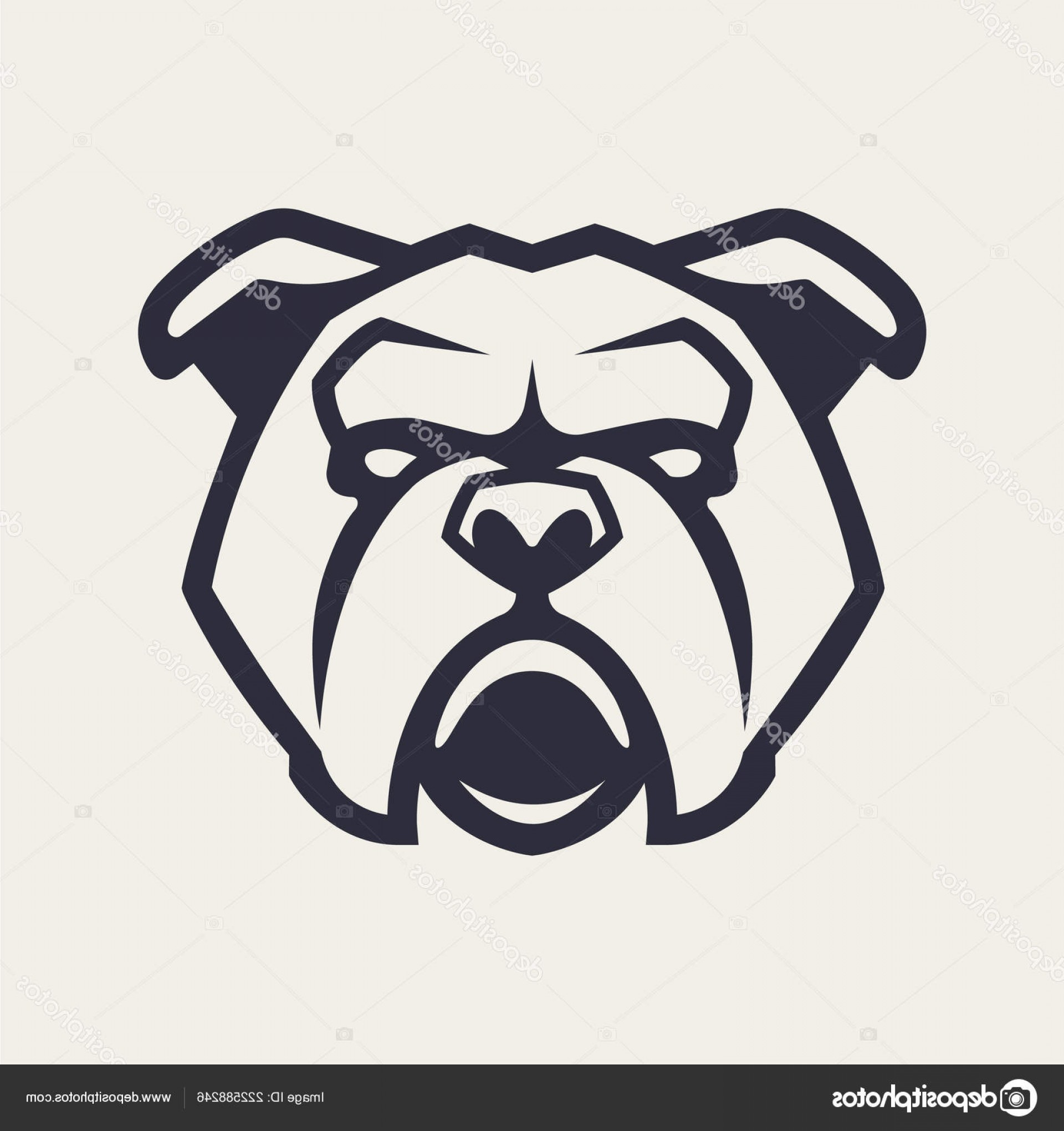 Bulldog Vector Art: Stock Illustration Bulldog Mascot Vector Art Frontal