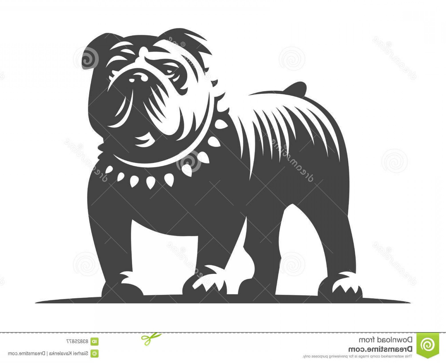 Bulldog Vector Art: Stock Illustration Bulldog Vector Illustration White Background Design Image