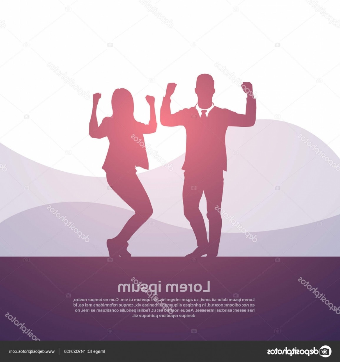 Holding Hands Up Silhouette Vector: Stock Illustration Business People Group Silhouette Excited