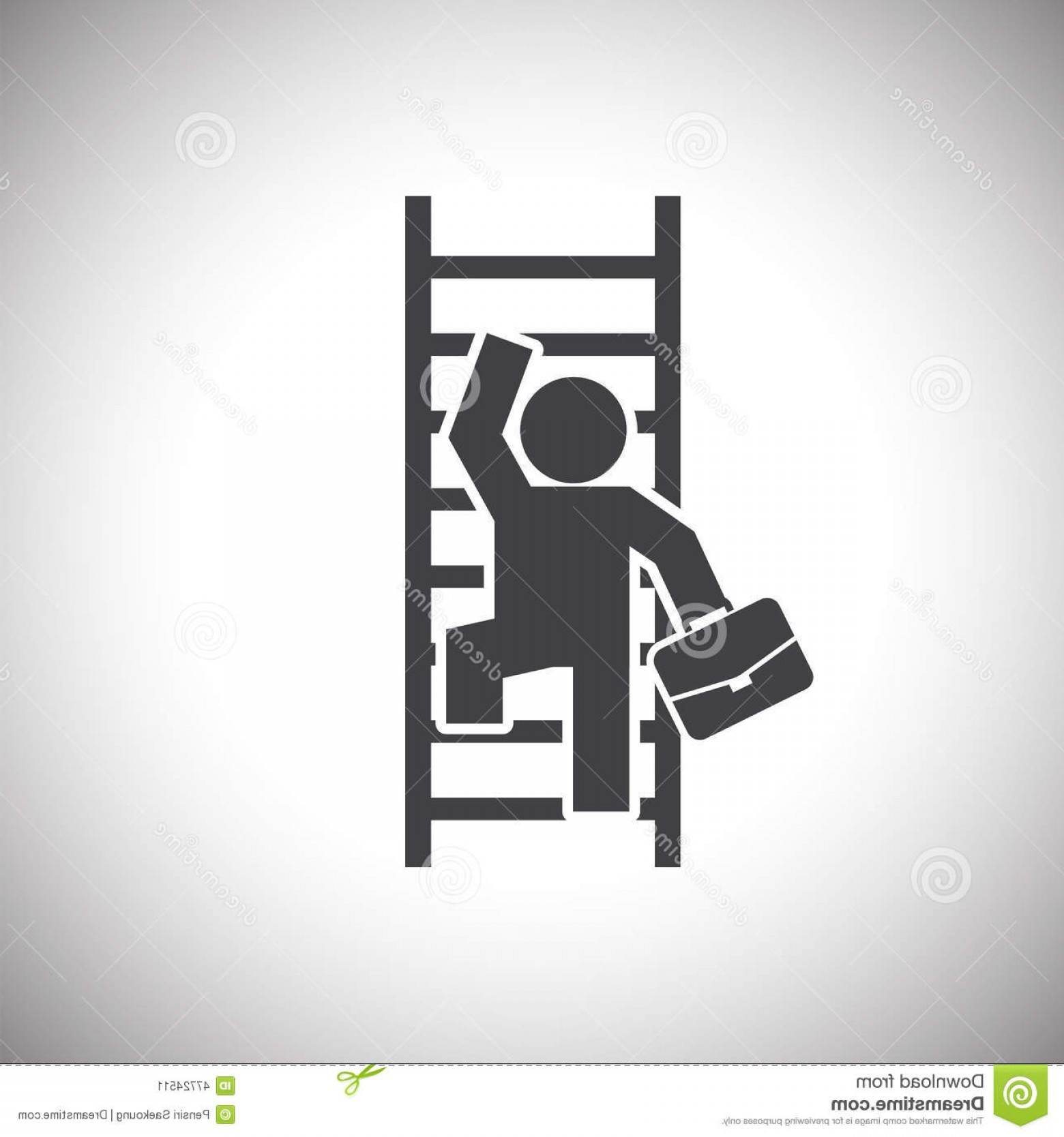 Vector Career Ladder: Stock Illustration Businessman Climbing Ladder Web Icon Illustration Design Vector Image
