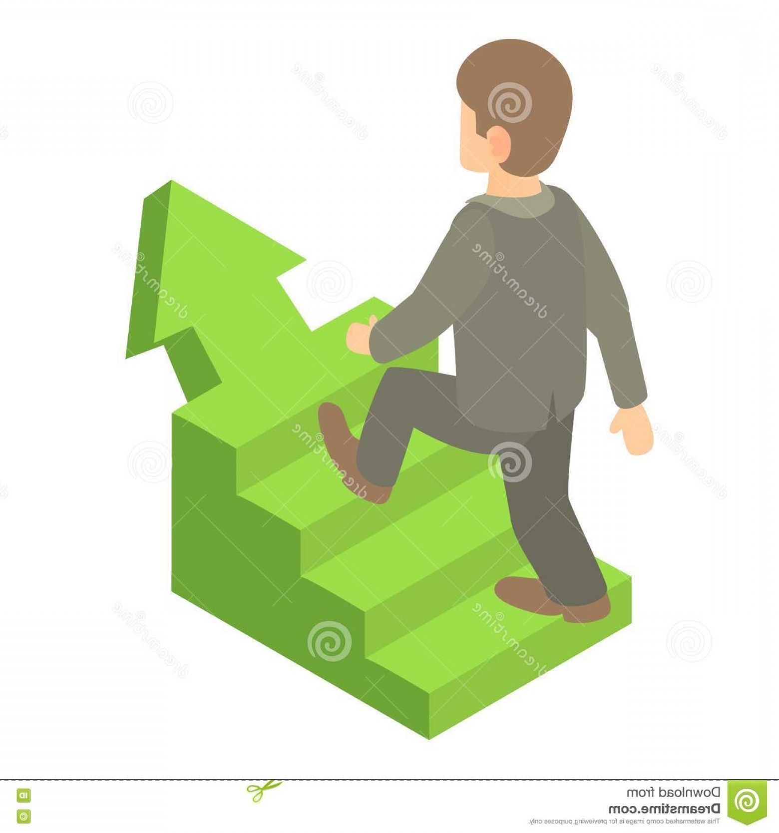 Vector Career Ladder: Stock Illustration Businessman Running Up Career Ladder Icon Cartoon Illustration Vector Web Image