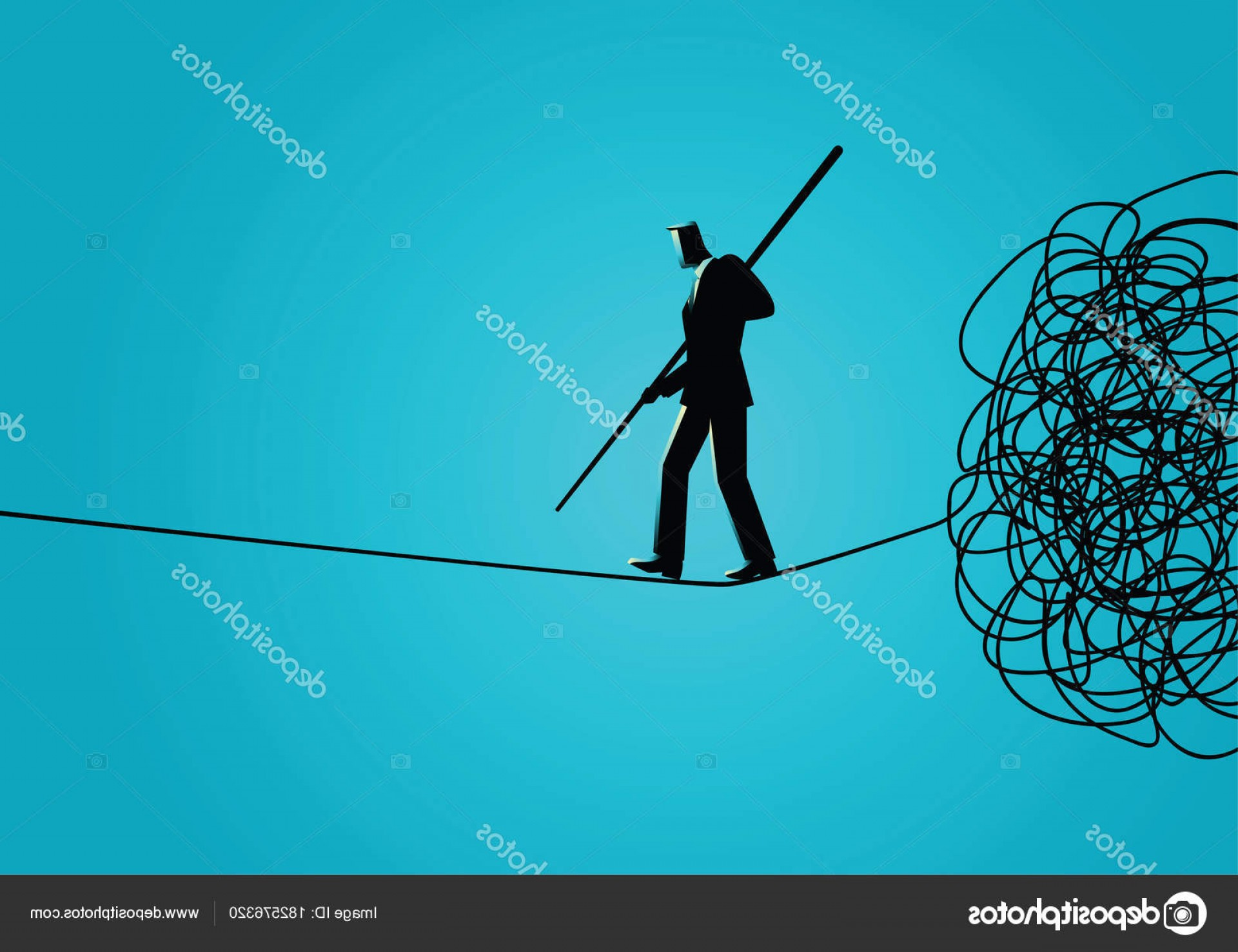 Walking Away Vector: Stock Illustration Businessman Walking Away Carefully From