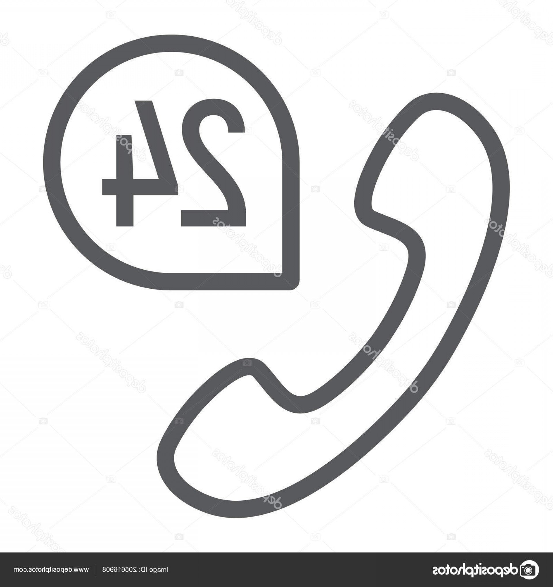 Support Vector Graphics: Stock Illustration Call Line Icon Support