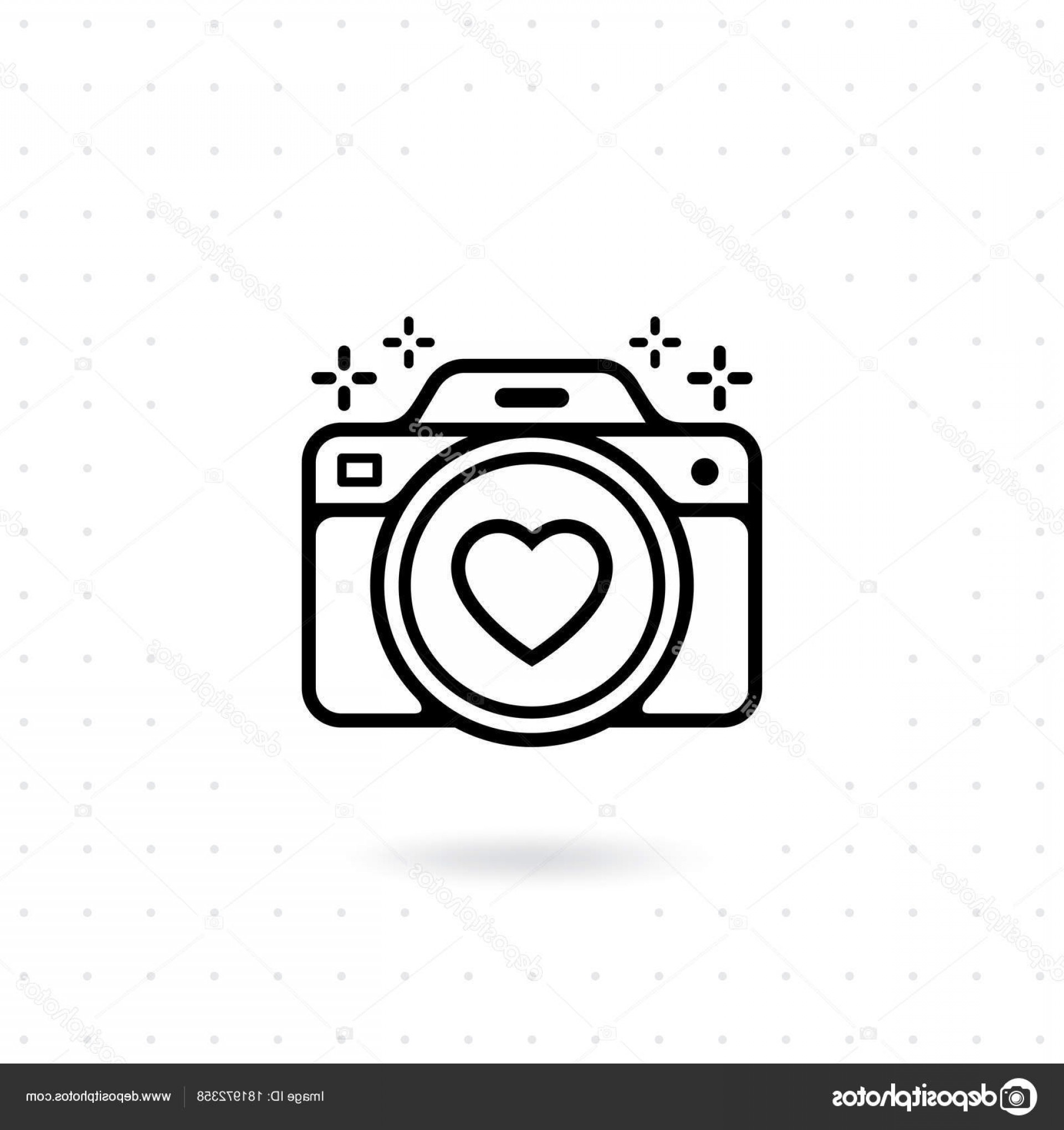 Camera Outline Vector Graphic: Stock Illustration Camera Icon Vector Web Mobile