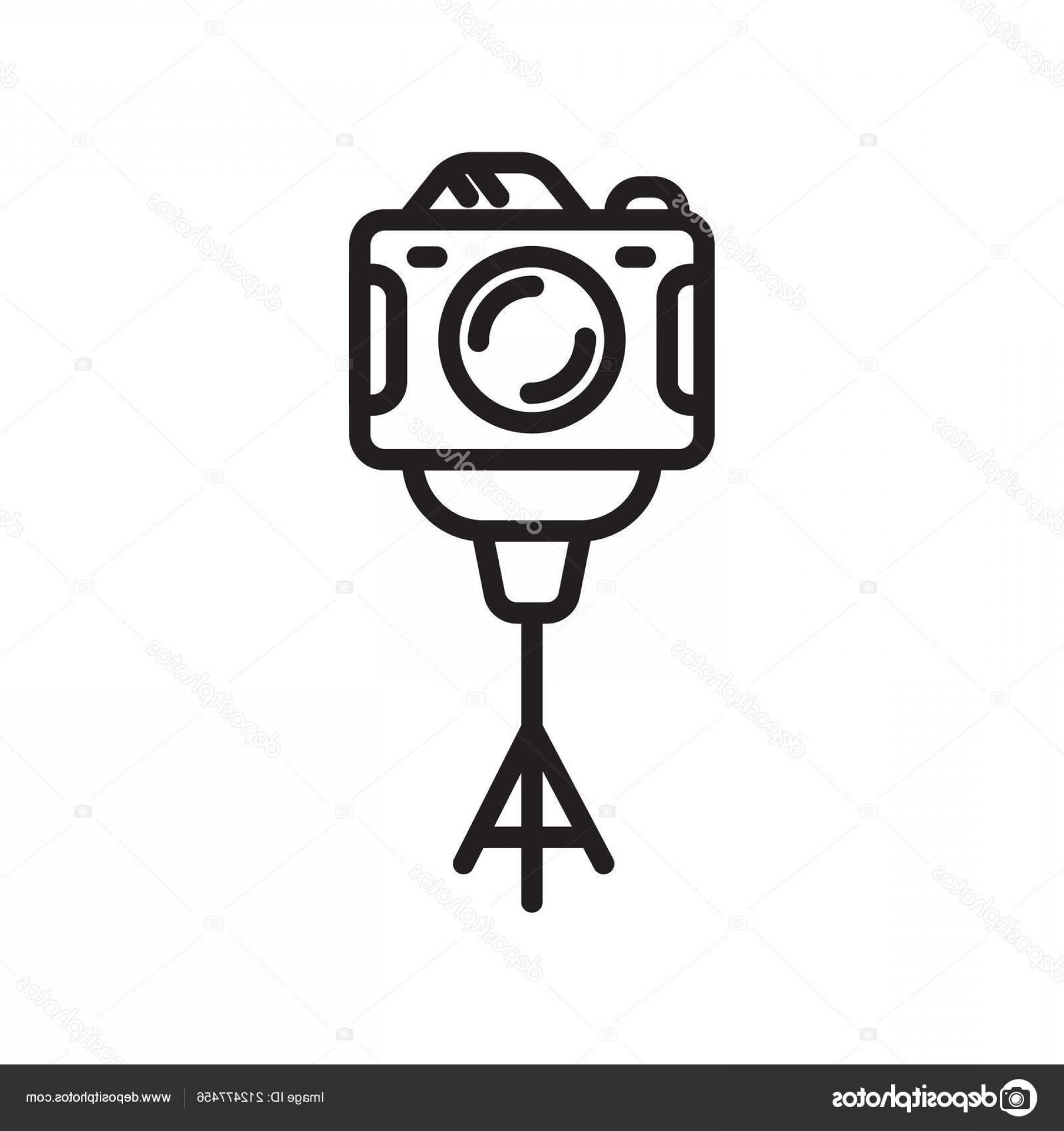 Vector Camera Stand: Stock Illustration Camera Stand Icon Vector Isolated