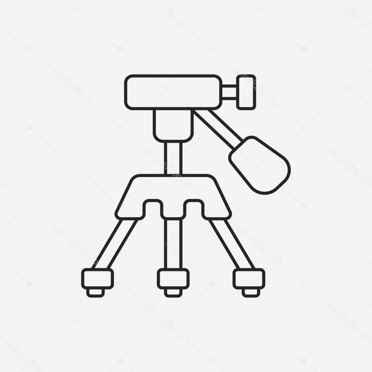 Vector Camera Stand: Stock Illustration Camera Stand Line Icon