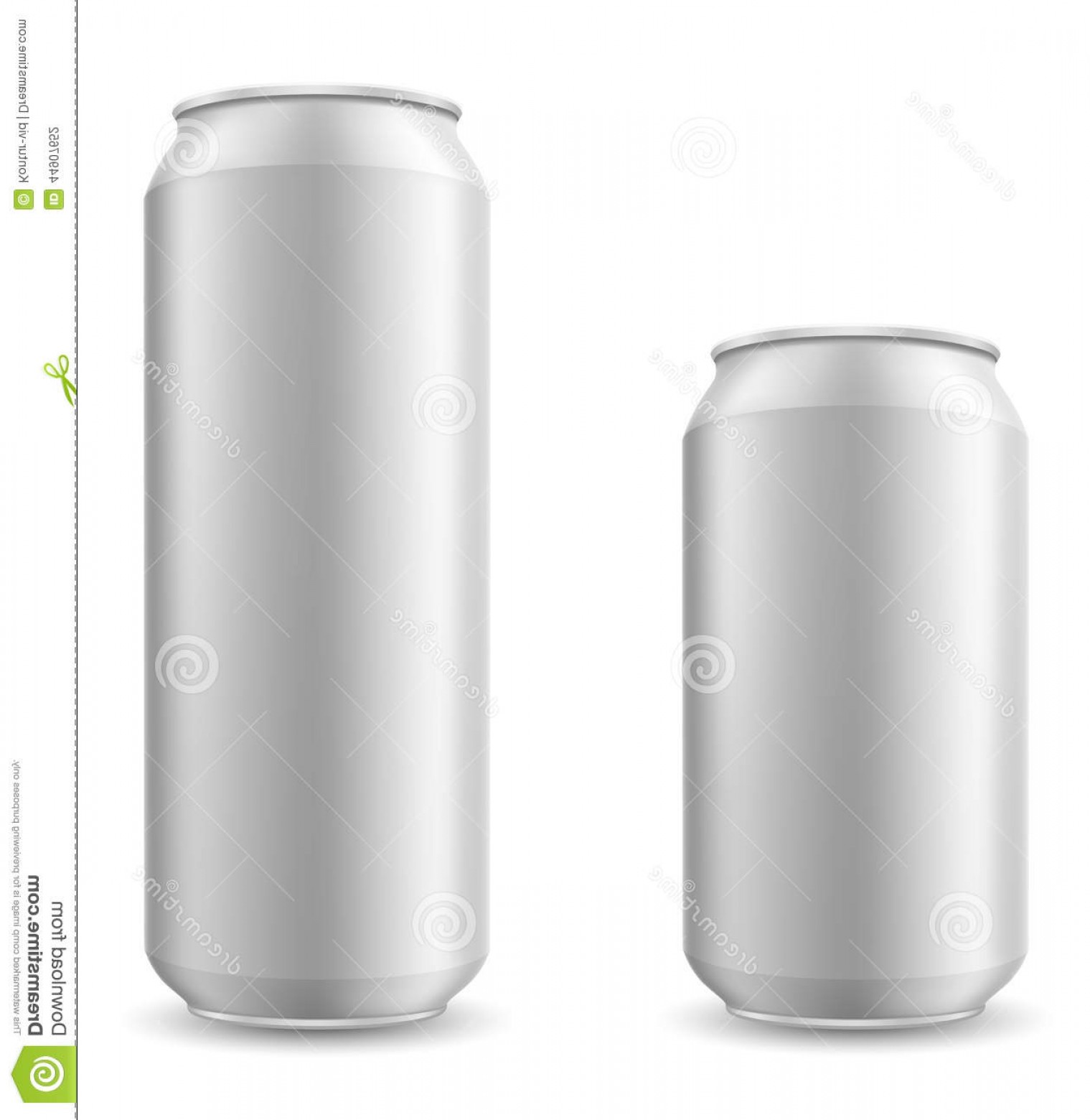 Can Vector: Stock Illustration Can Beer Vector Illustration White Background Image
