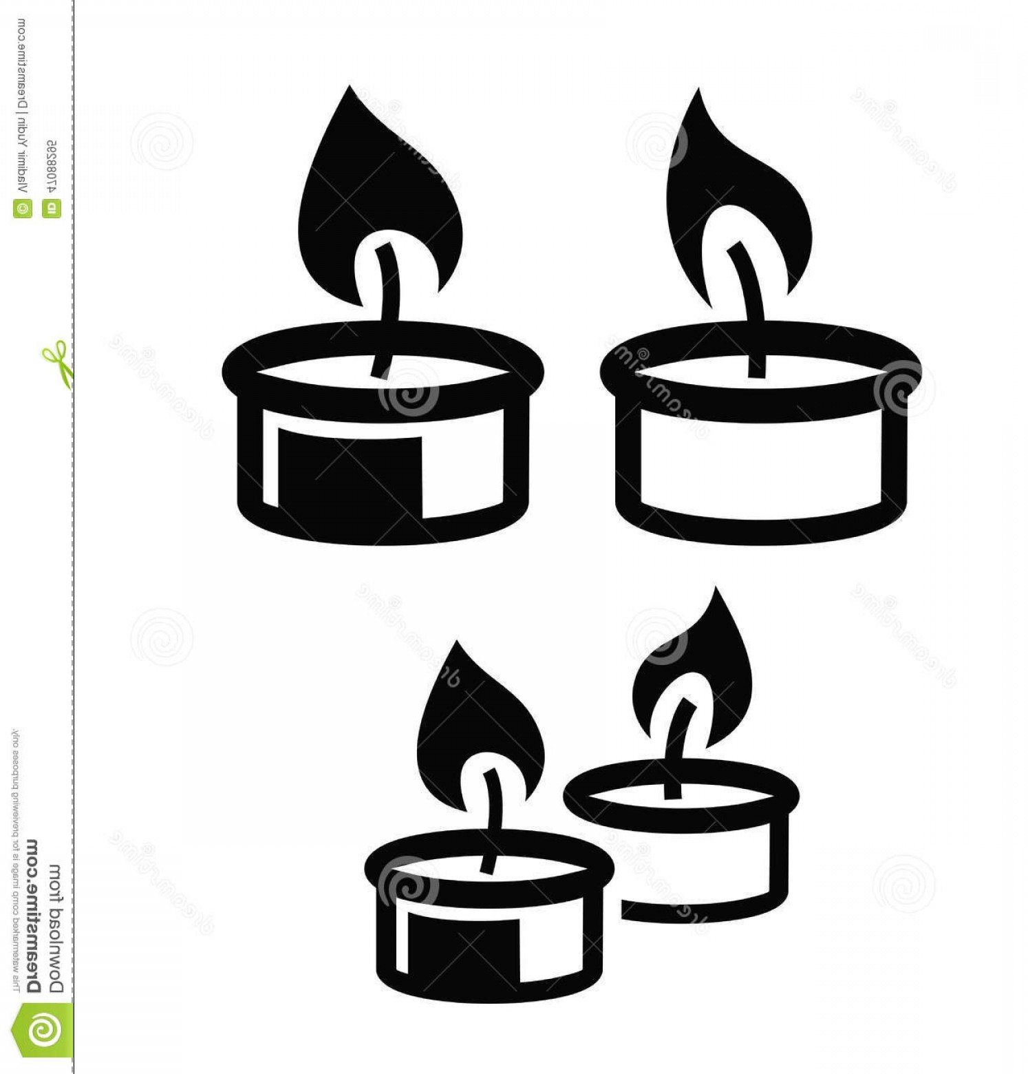 Candle Vector Black: Stock Illustration Candle Icon Vector Black White Background Image