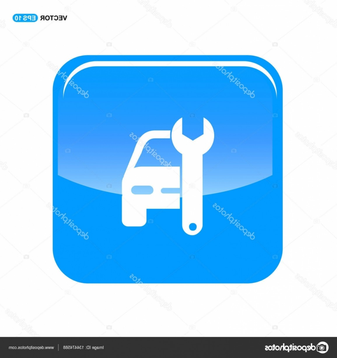 Workshop Icon Vector: Stock Illustration Car Repair Workshop Icon