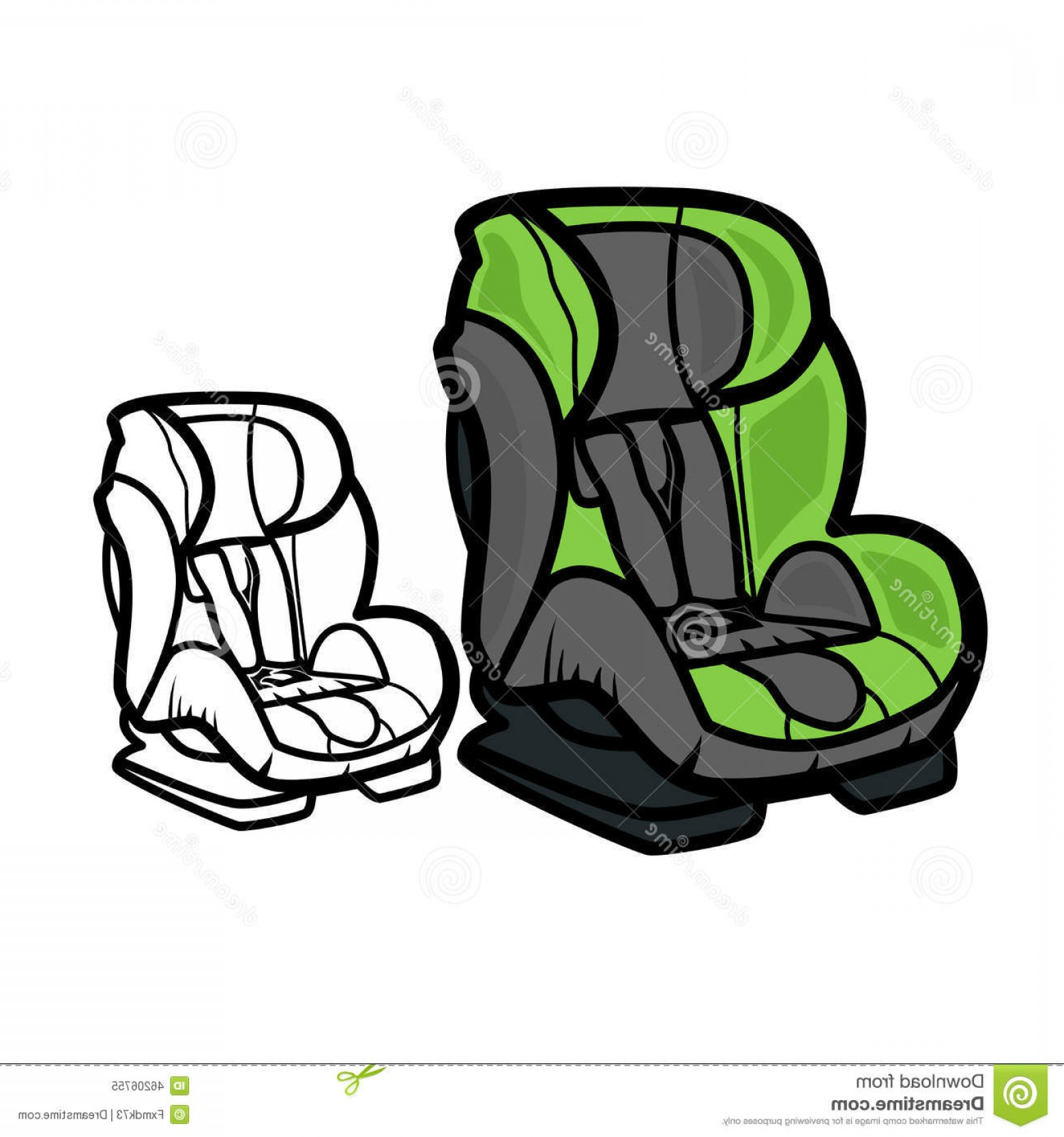 Vector Baby Seat: Stock Illustration Car Seat Vector Illustration White Background Image