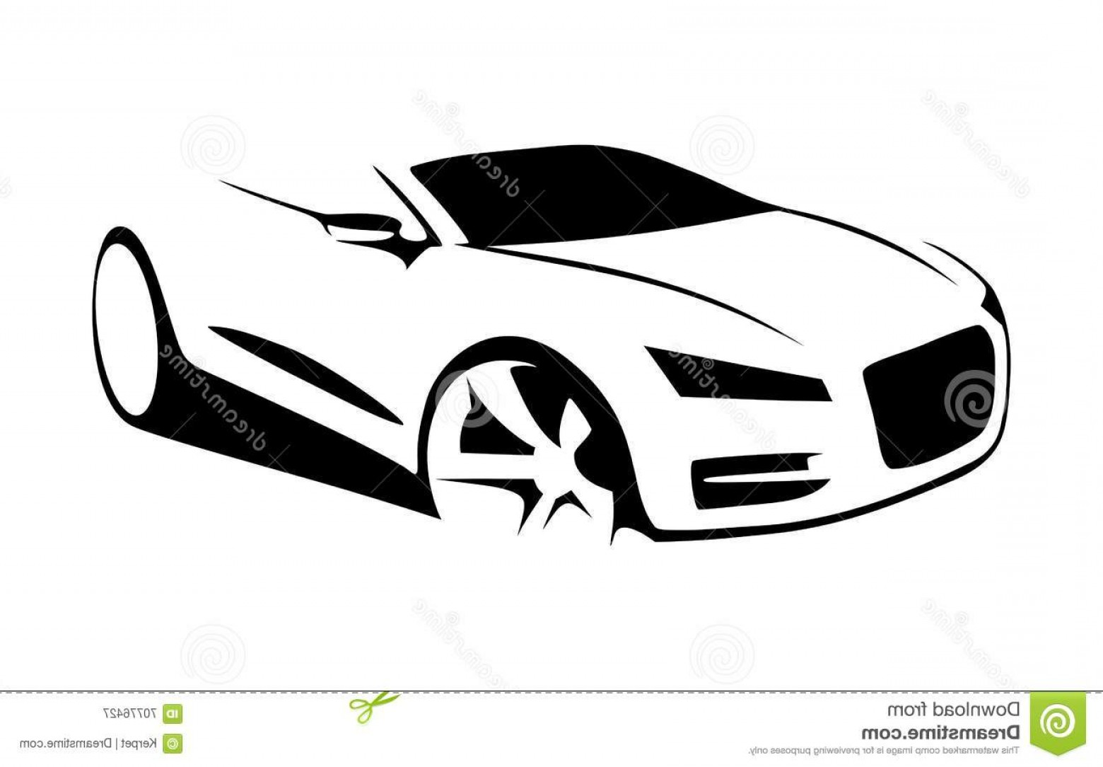 Car Silhouette Vector Free: Stock Illustration Car Silhouette Vector Side View Image