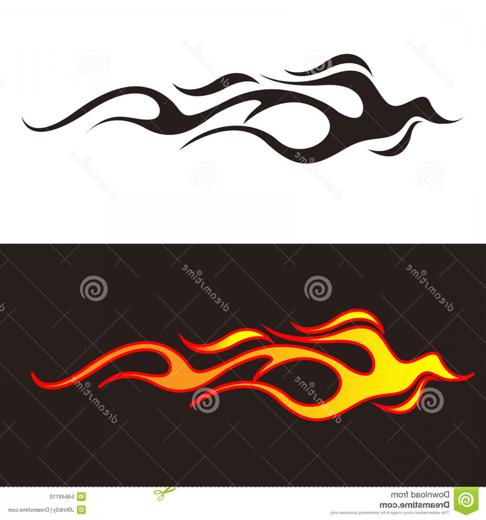 Tribal Flames Vector Car: Stock Illustration Car Tattoo Tribal Flames Illustration Decal Stickers Image