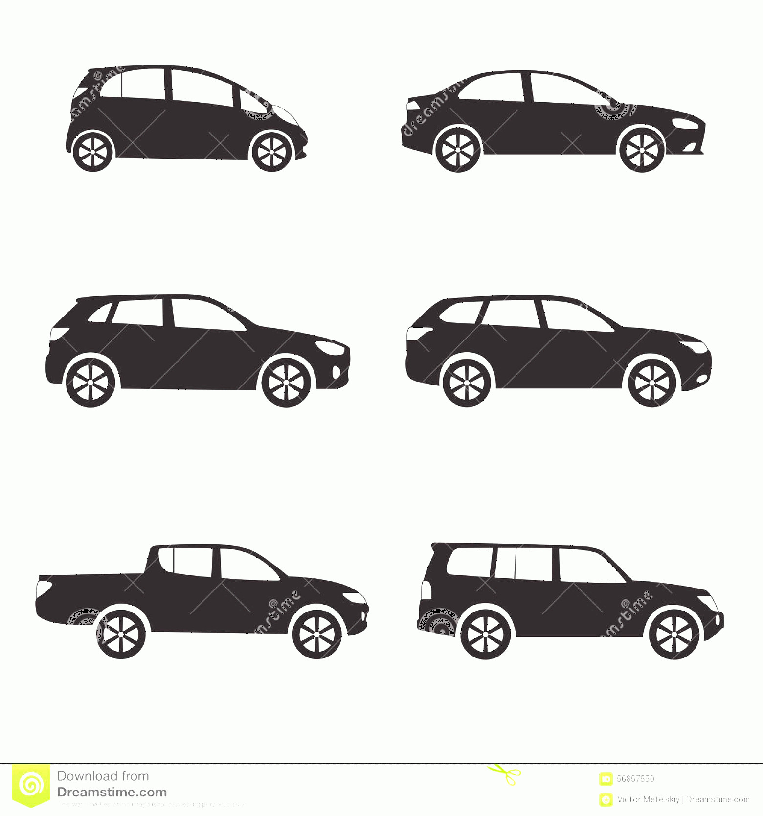 Vector Car: Stock Illustration Car Vehicle Icon Set Different Vector Car Form Cars Isolated White Background Illustration Image