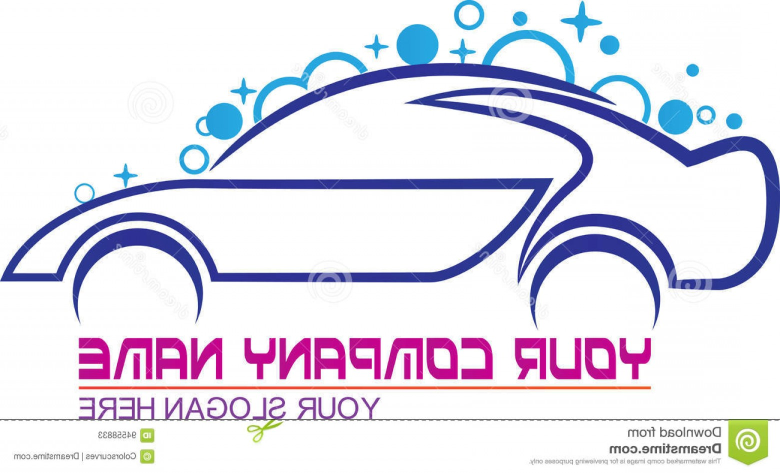 Car Wash Vector Graphics: Stock Illustration Car Wash Logo Vector Drawing Represents Design Image