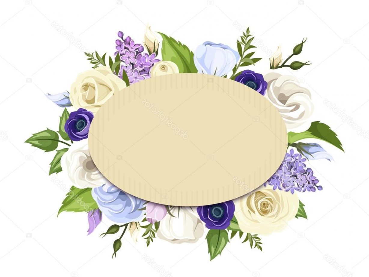 Purple Green And White Vector: Stock Illustration Cardboard Card With Blue Purple