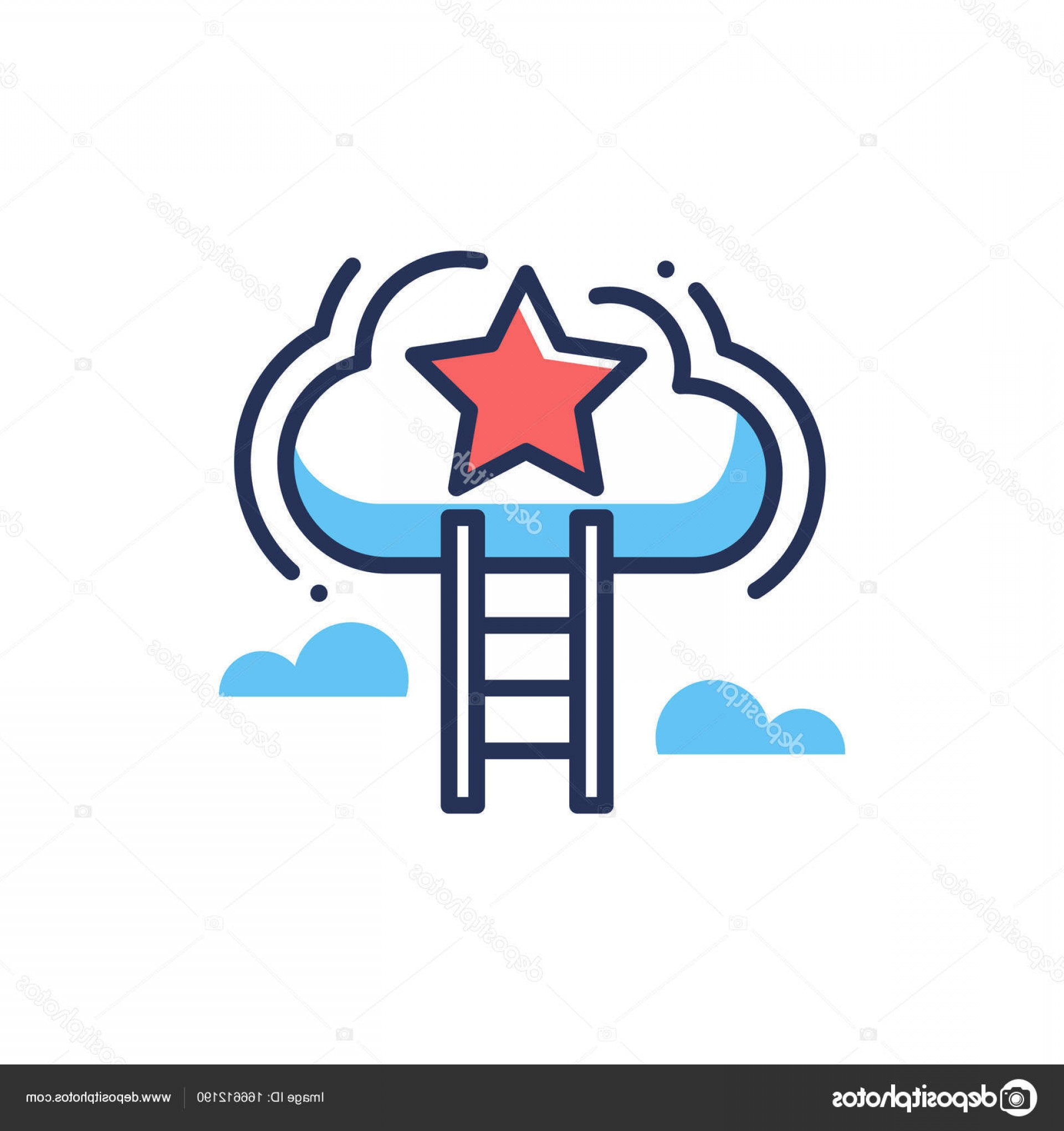 Vector Career Ladder: Stock Illustration Career Ladder Modern Vector Line
