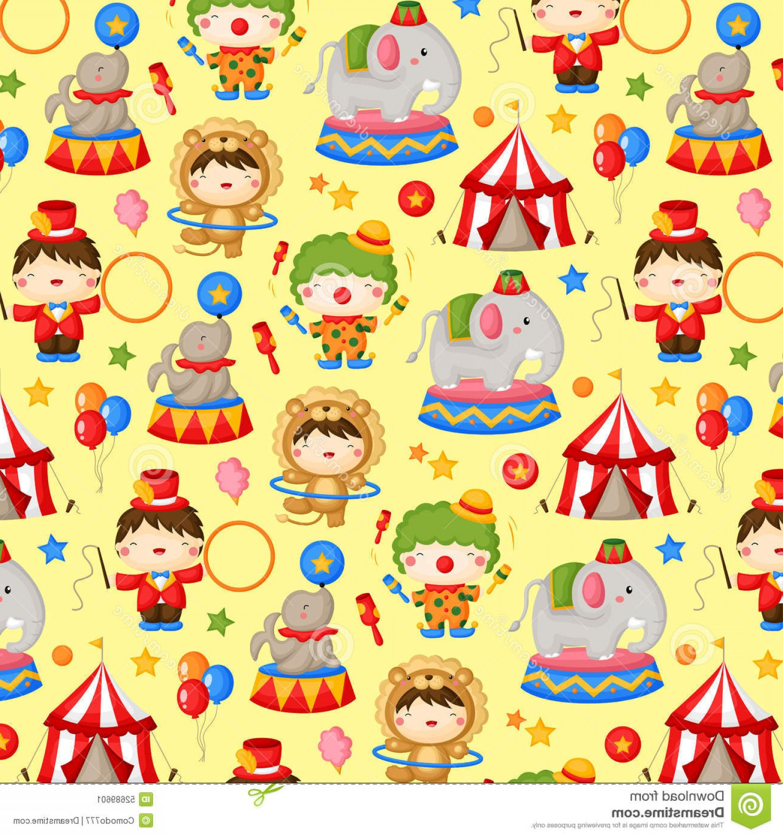 Circus Background Vector: Stock Illustration Carnival Circus Background Theme Image