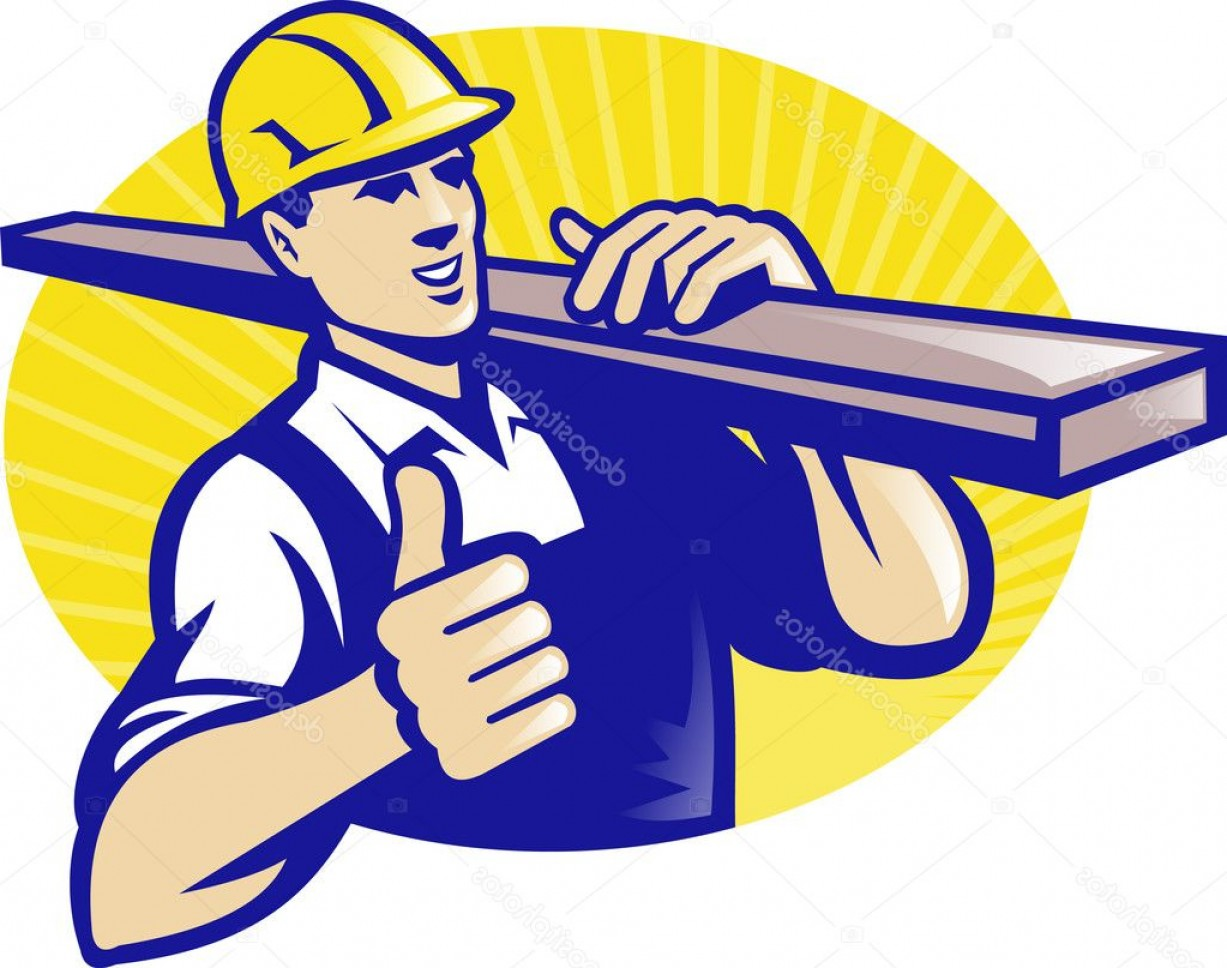 Vector Constructor: Stock Illustration Carpenter Builder Worker Thumbs Up