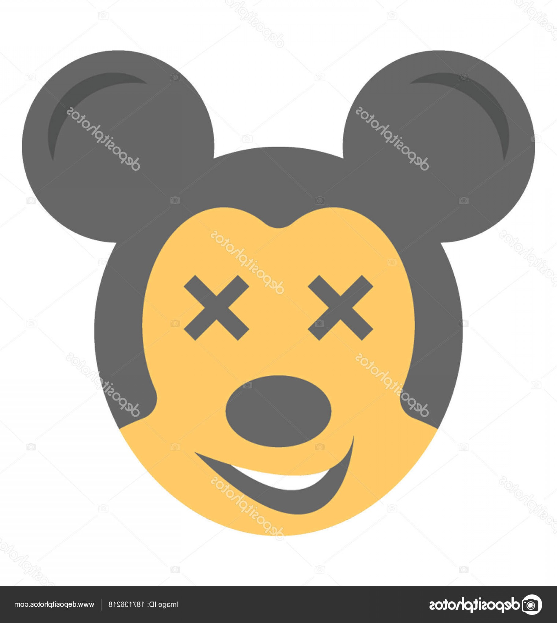 Mickey Vector: Stock Illustration Cartoon Appearance Mickey Mouse Flat