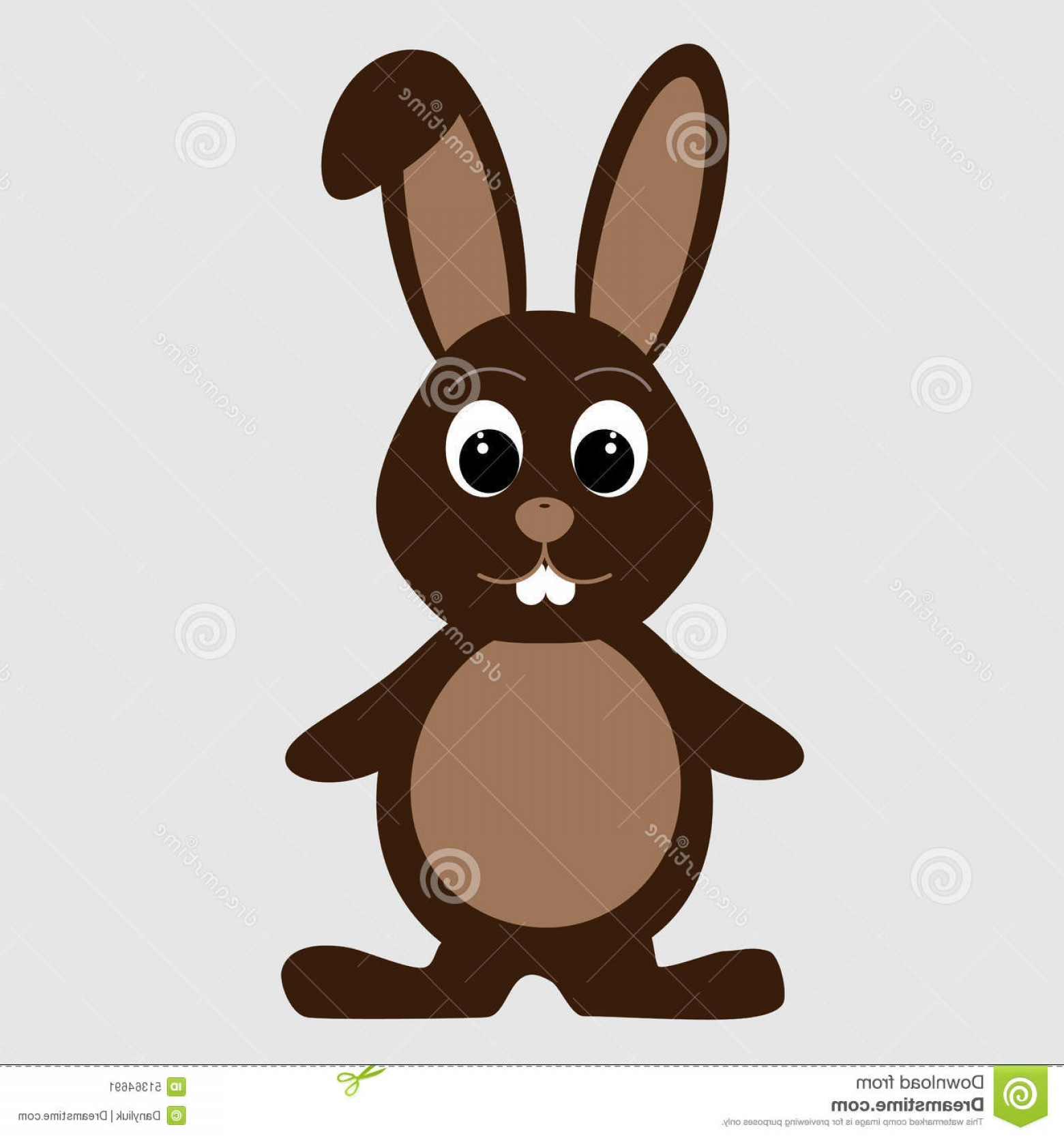 Chocolate Bunny Vector: Stock Illustration Cartoon Cute Rabbit Chocolate Chocolate Easter Bunny Image