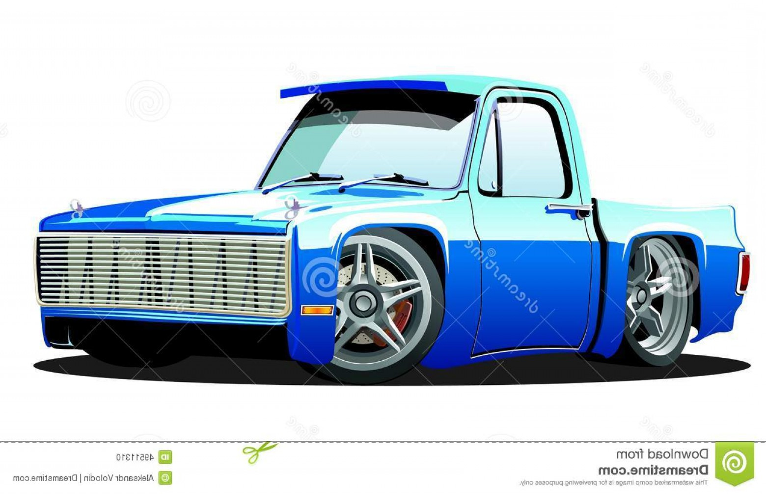 Lowrider Vector: Stock Illustration Cartoon Lowrider Vector Pickup Available Eps Format Separated Groups Easy Edit Image
