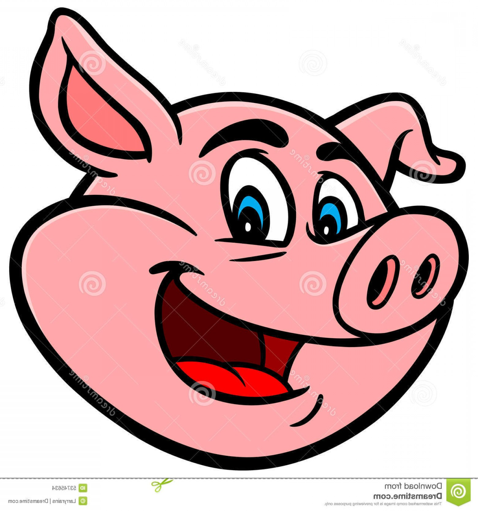 Vector Pig Nose: Stock Illustration Cartoon Pig Vector Illustration Image