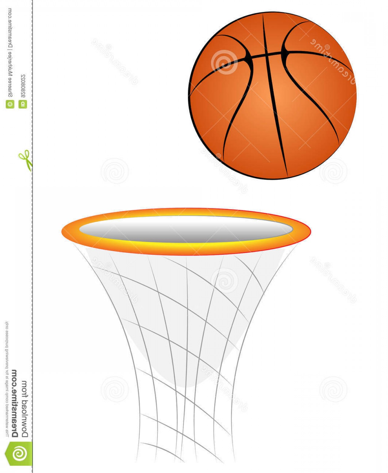 Cartoon Basketball Vector: Stock Illustration Cartoon Vector Basketball Basket Illustration Image