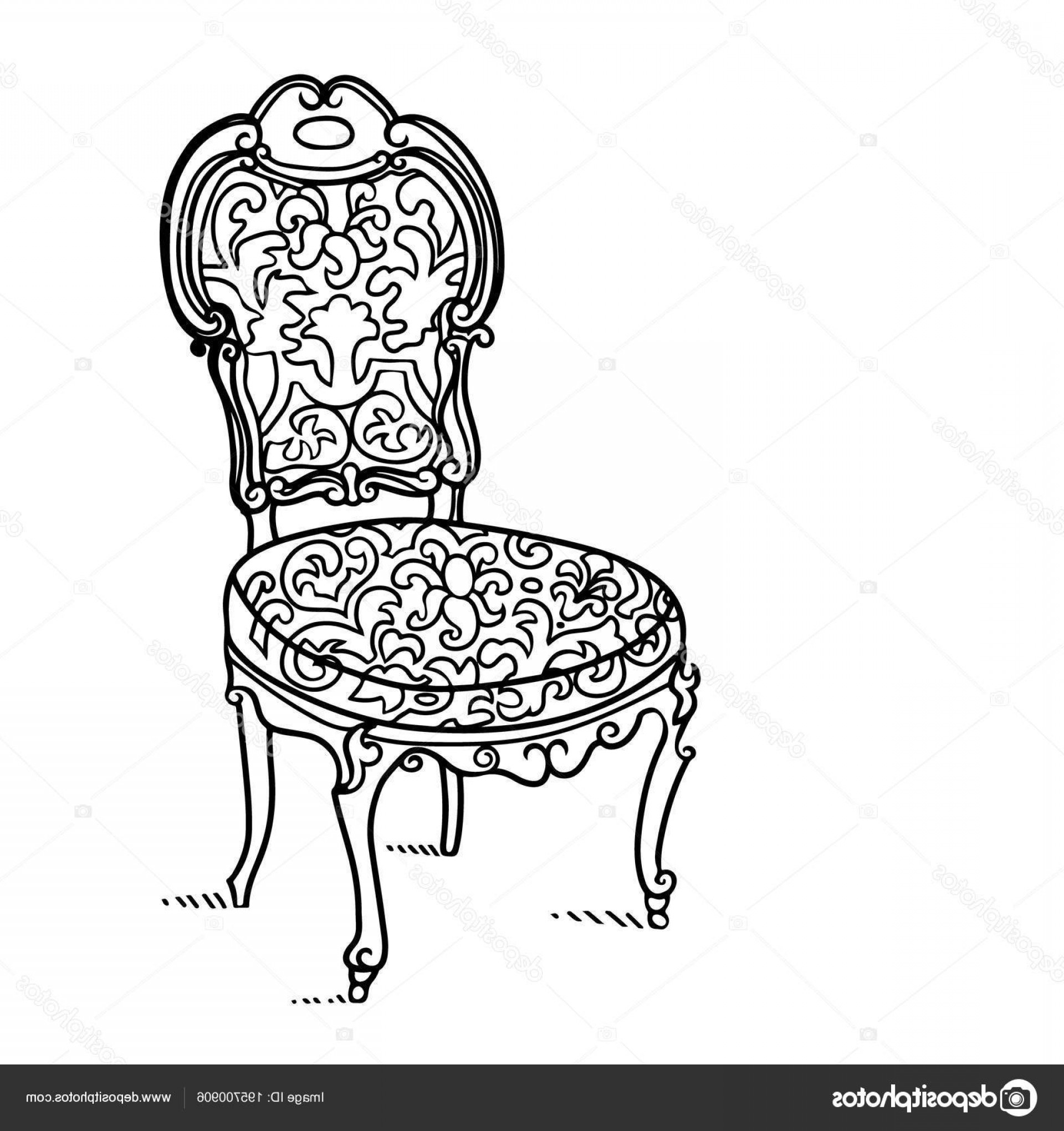 Vector Vintage Chair: Stock Illustration Cartoon Vector Vintage Chair