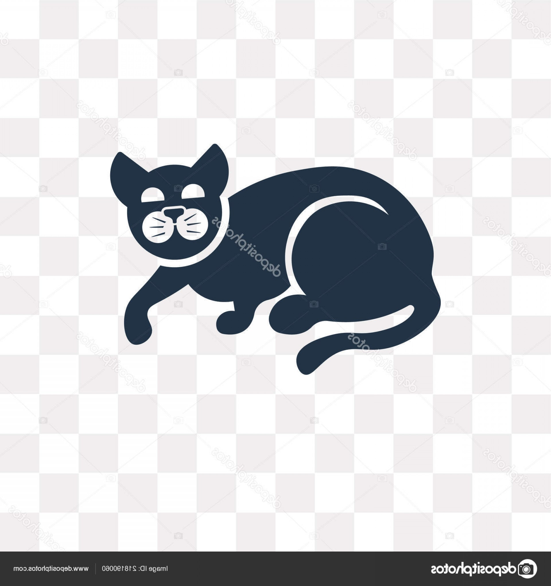 Siamese Cat Vector Transparent Background: Stock Illustration Cat Vector Icon Isolated Transparent