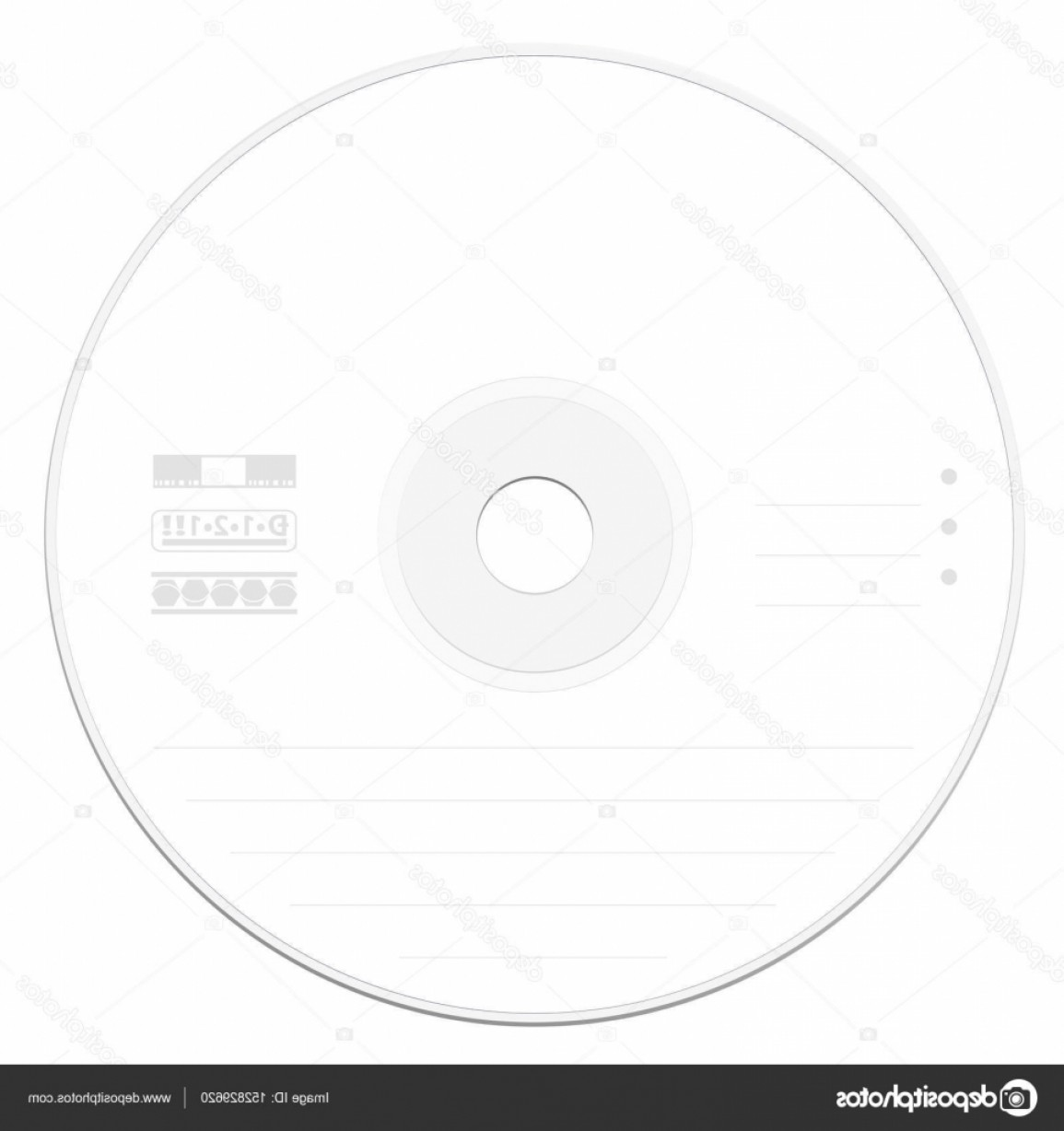 Cd Label Template Vector | CreateMePink