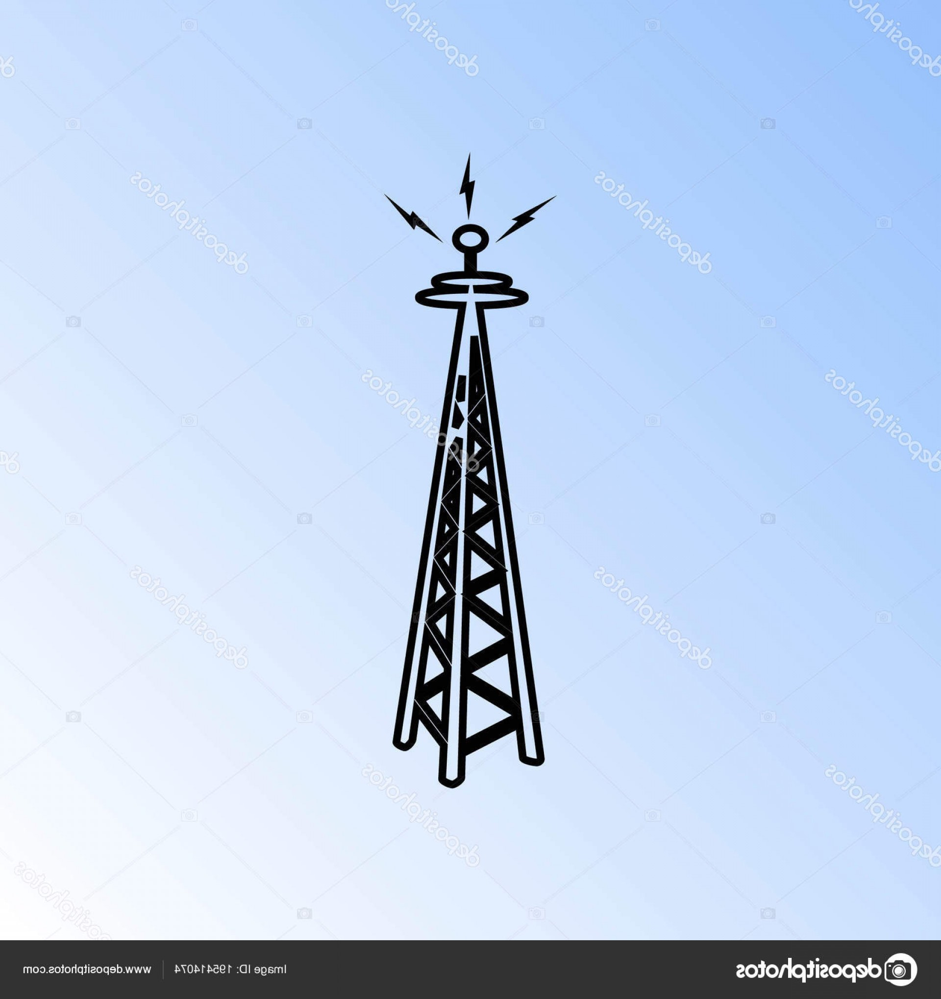 Vector Phone Tower: Stock Illustration Cell Phone Tower Vector Icon