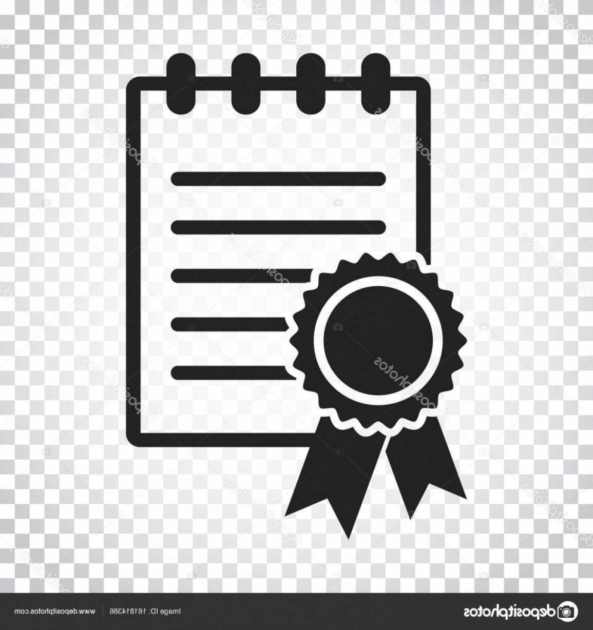 Diploma Icon Vector: Stock Illustration Certificate Icon Diploma Symbol Flat
