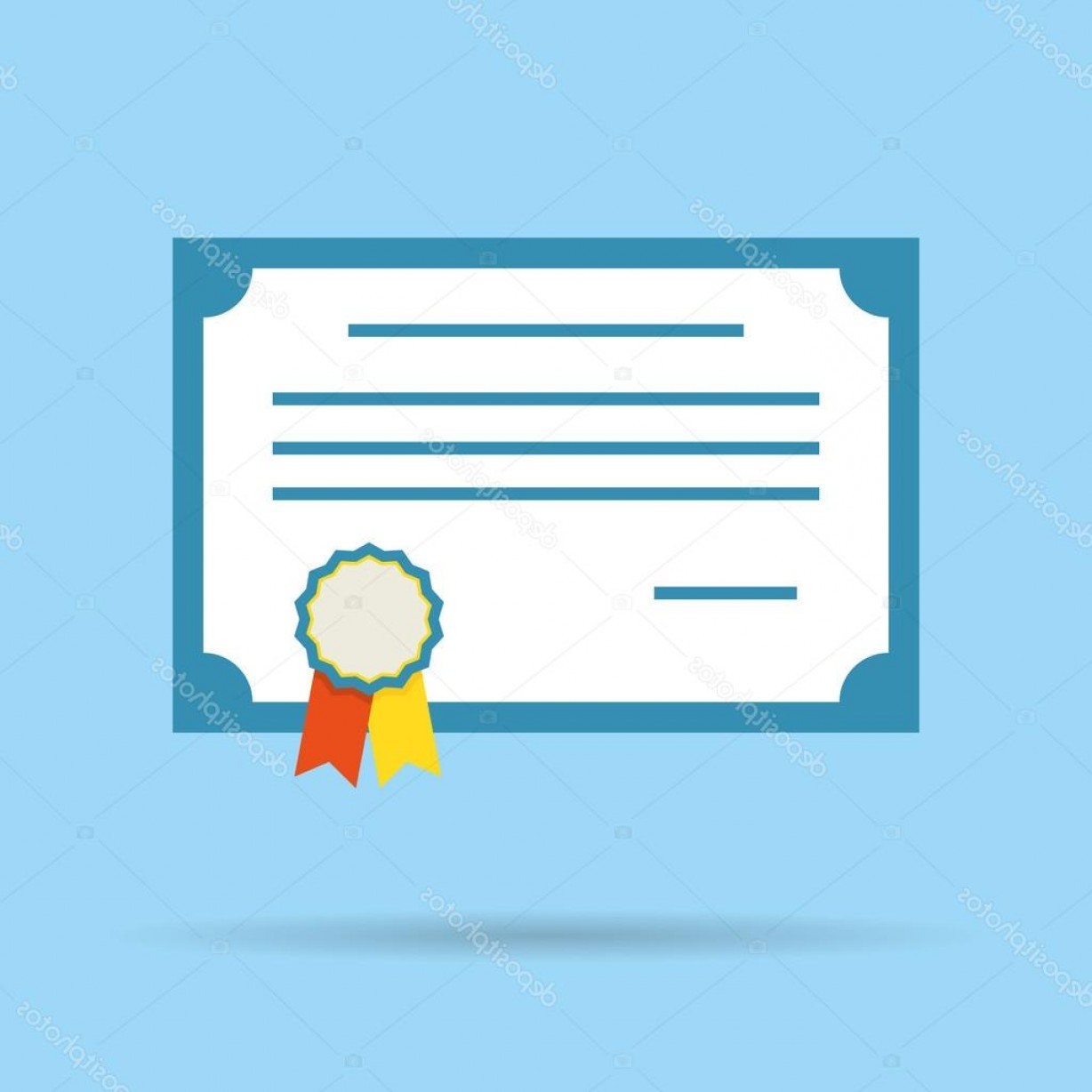 Diploma Icon Vector: Stock Illustration Certificate Vector Diploma Illustration Icon
