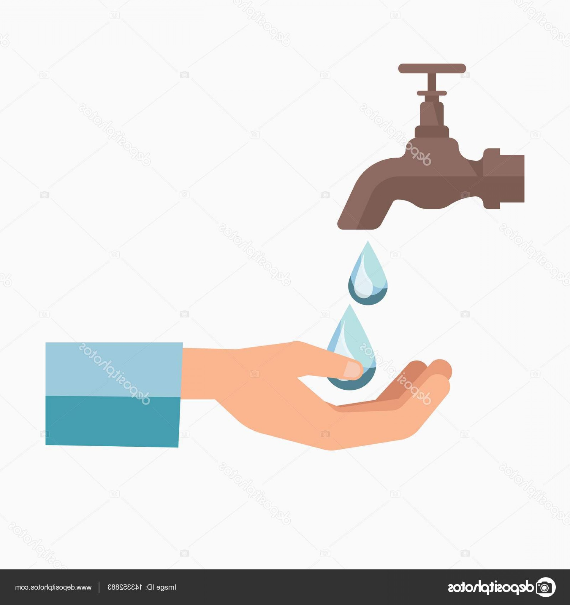 Charity Meter Vector: Stock Illustration Charity Symbol Of Water Scarcity