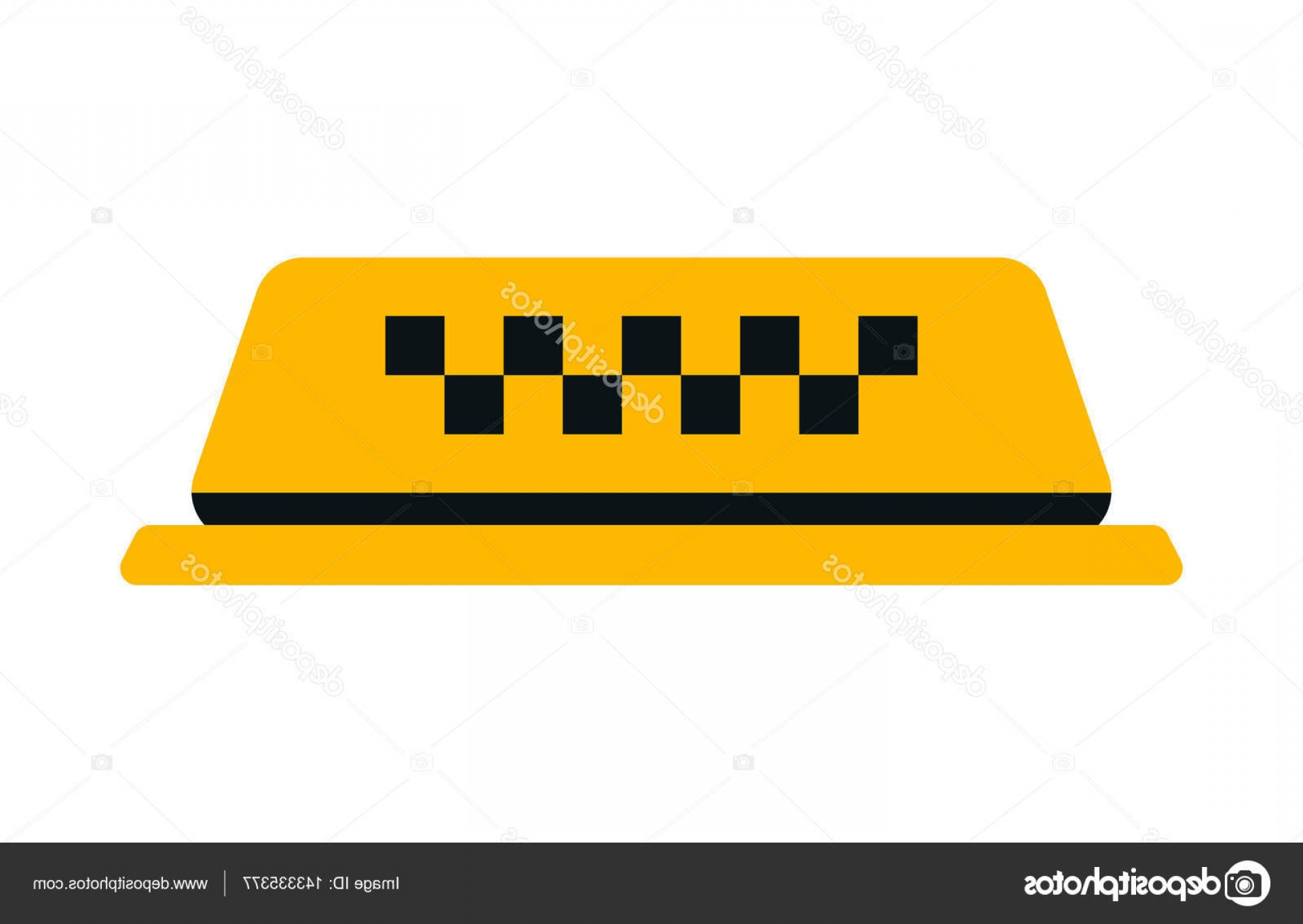 Taxi Checkers Vector: Stock Illustration Checker Taxi Cab Vector Illustration