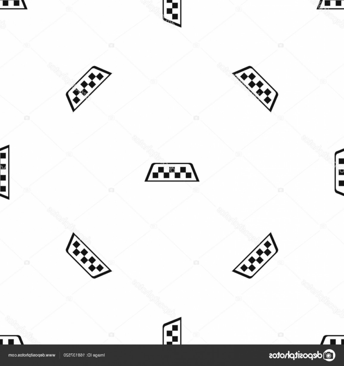 Taxi Checkers Vector: Stock Illustration Checker Taxi Pattern Seamless Black