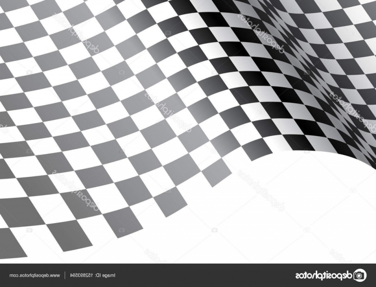 Checkered Flag Background Vector: Stock Illustration Checkered Flag Wave On White