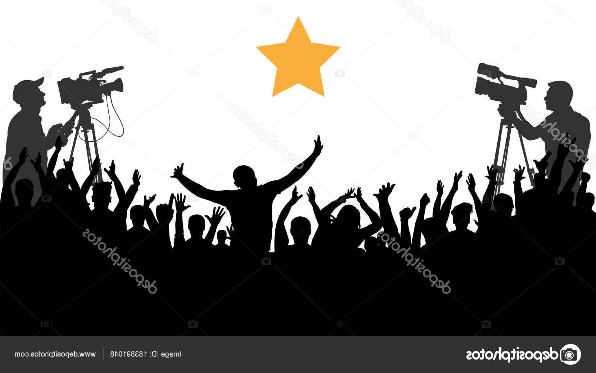 Vector Sports Crowd Cheering: Stock Illustration Cheering Crowd People Concert Party