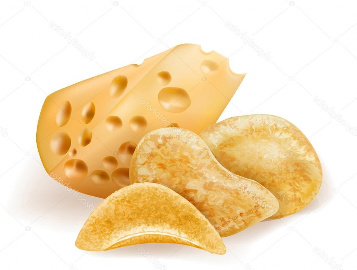 Chips Queso Vector: Stock Illustration Chees And Potatos Chips