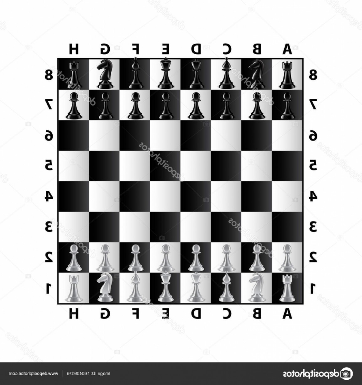 Vector Chess Board: Stock Illustration Chess Board Top View Isolated