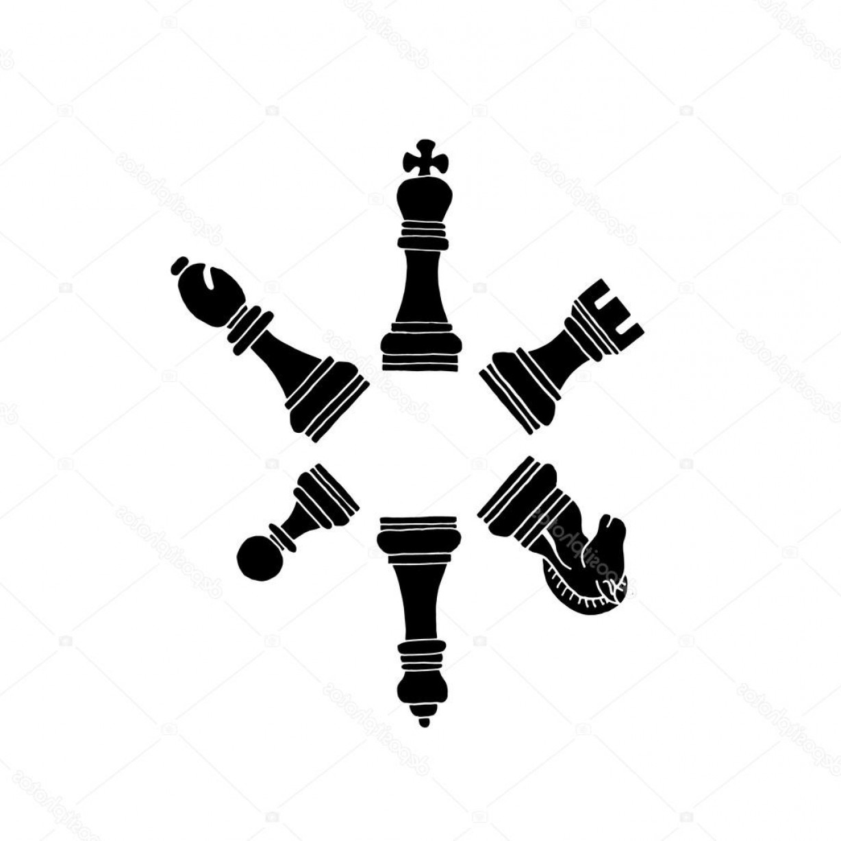 Chess Vector Background: Stock Illustration Chess On A White Background