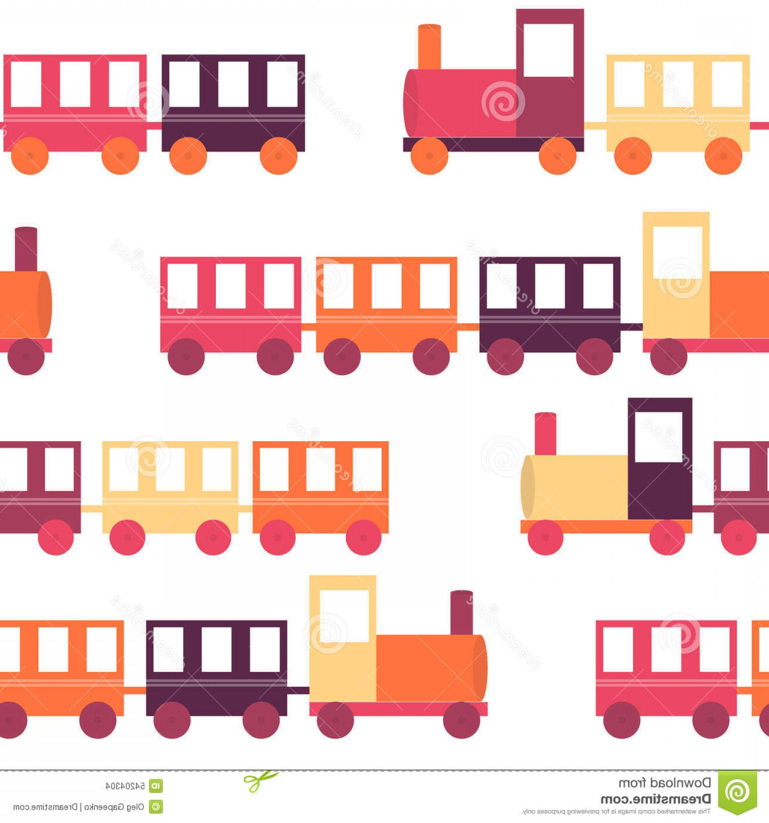 Vector Train Pattern: Stock Illustration Children S Train Seamless Pattern Vector Illustration Eps Image