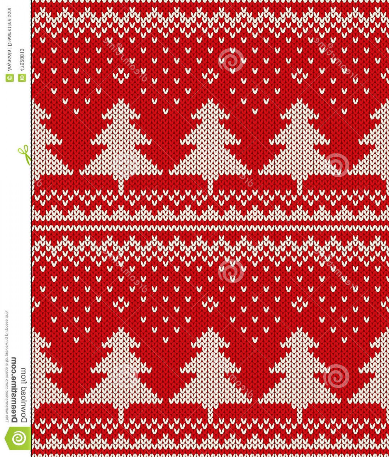 Christmas Sweater Design Vector: Stock Illustration Christmas Sweater Design Seamless Pattern Christmas Trees Ornament Wool Knitted Texture Eps Available Image