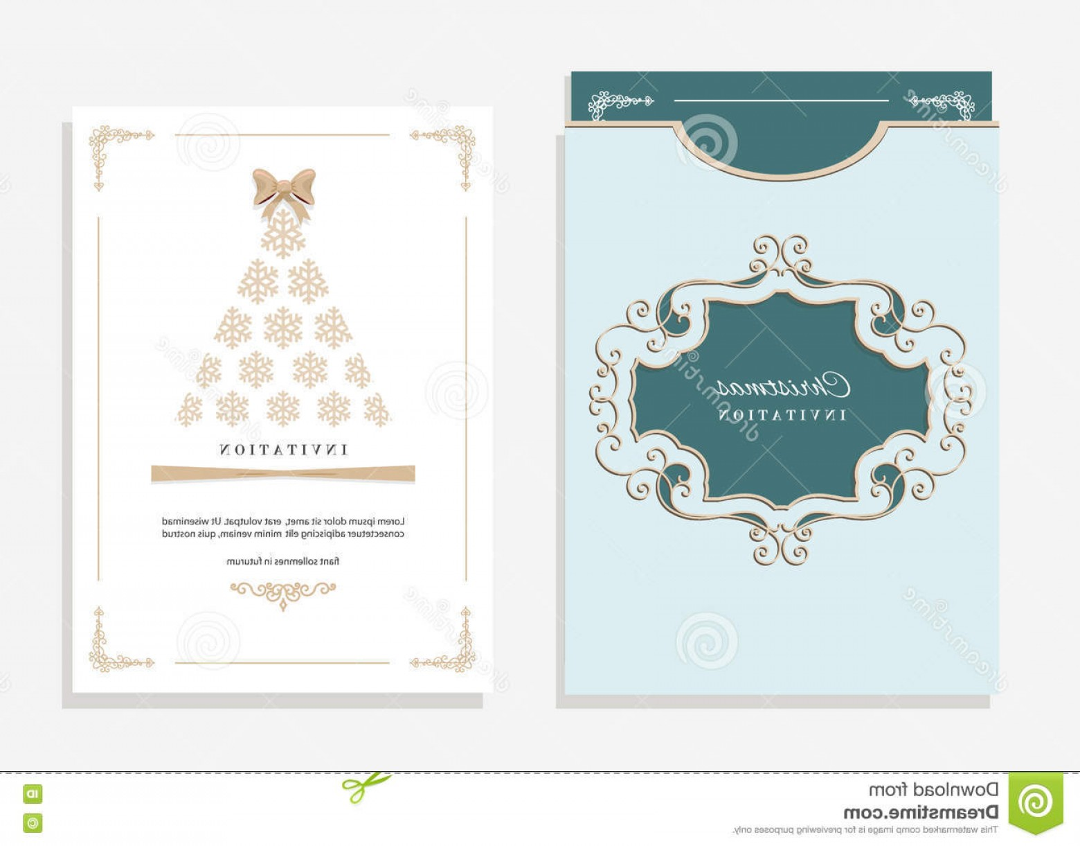 Filigree Oval Frame Vector: Stock Illustration Christmas Template Laser Cutting Party Invitation Envelope Filigree Oval Frame Emerald White Colors Image